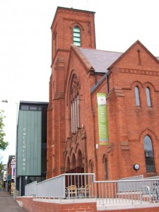 Since the 1990s, Cultúrlann McAdam Ó Fiaich (Culture Place McAdam Ó Fiaich') has used the former Broadway Presbyterian Church of Belfast as its HQ.